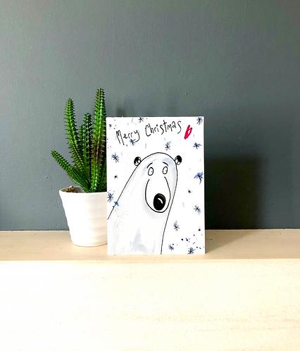 Polie bear card