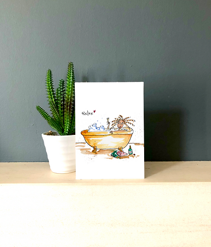 Relax in the bath Card
