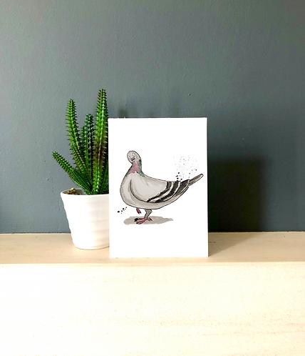 Gary the pigeon card
