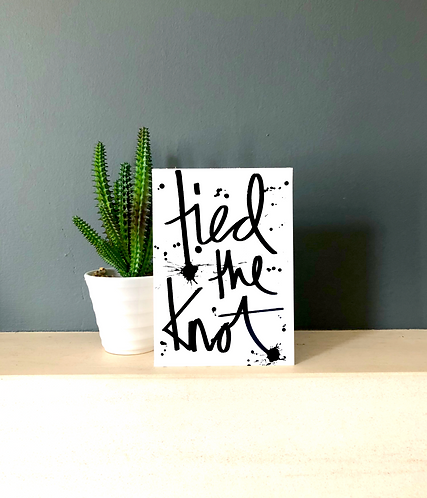 Tied the knot card