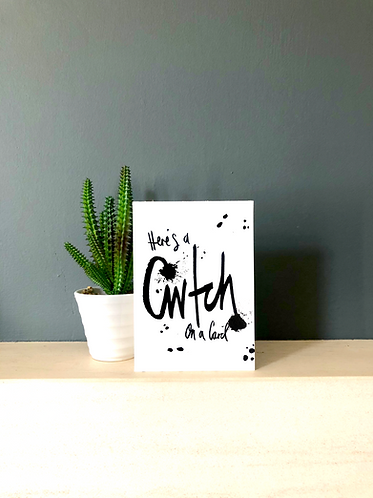 Cwtch on a card