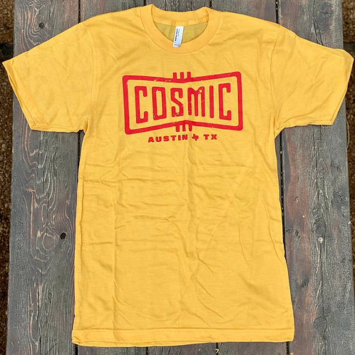 COSMIC HEATHER GOLD/RED TEE