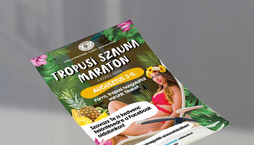 Kamilla fürdő plakát
