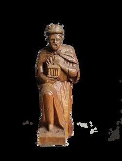 Sujet sculpté composant une crèche