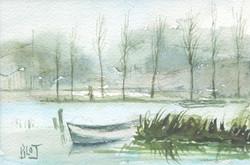 Barque au marais