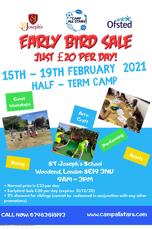February Half-Term (Winter Sale - Day Rate)