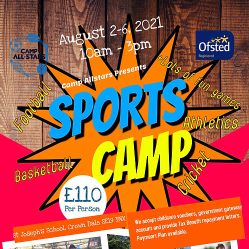SPORTS CAMP- AUGUST 2ND-6TH 2021