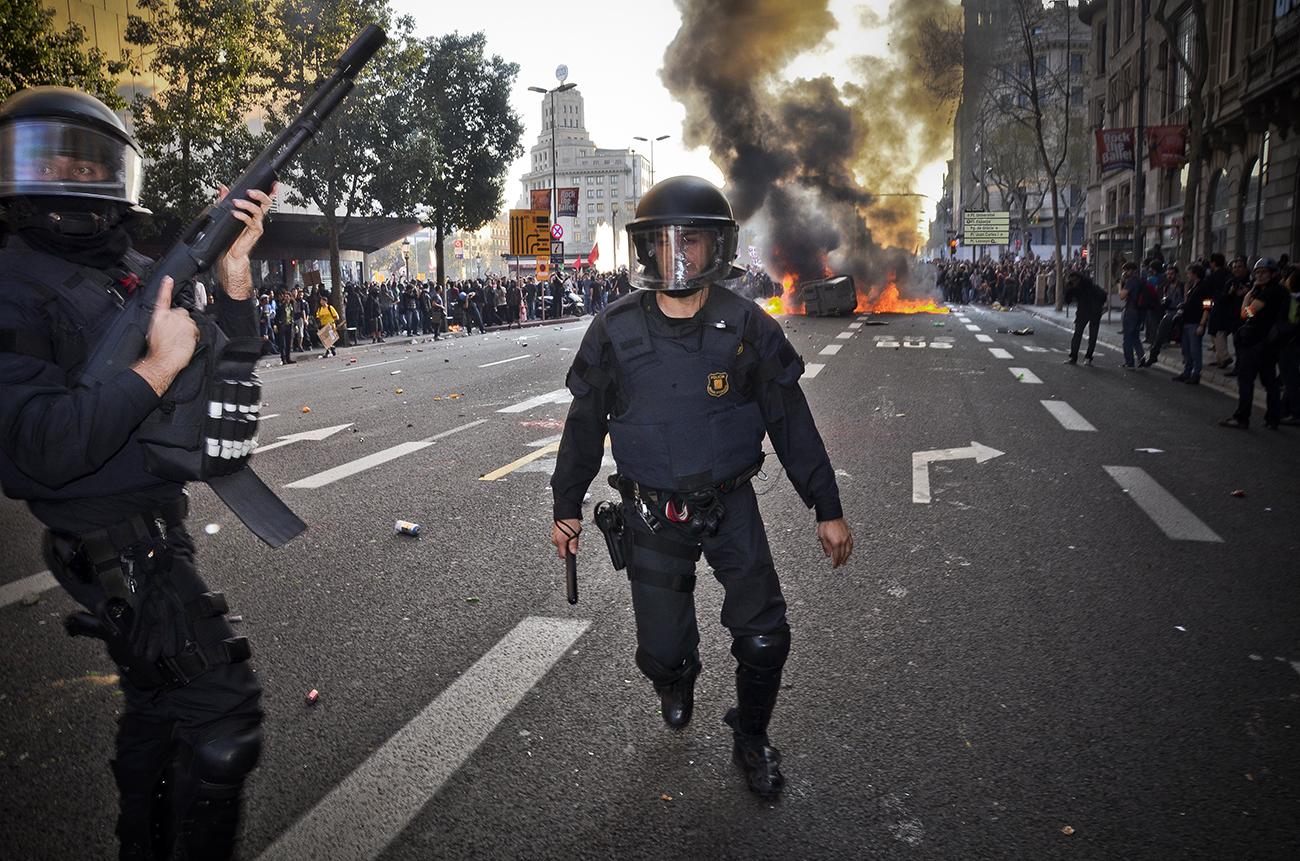 Huelga general 29M de 2013 en Barcelona09