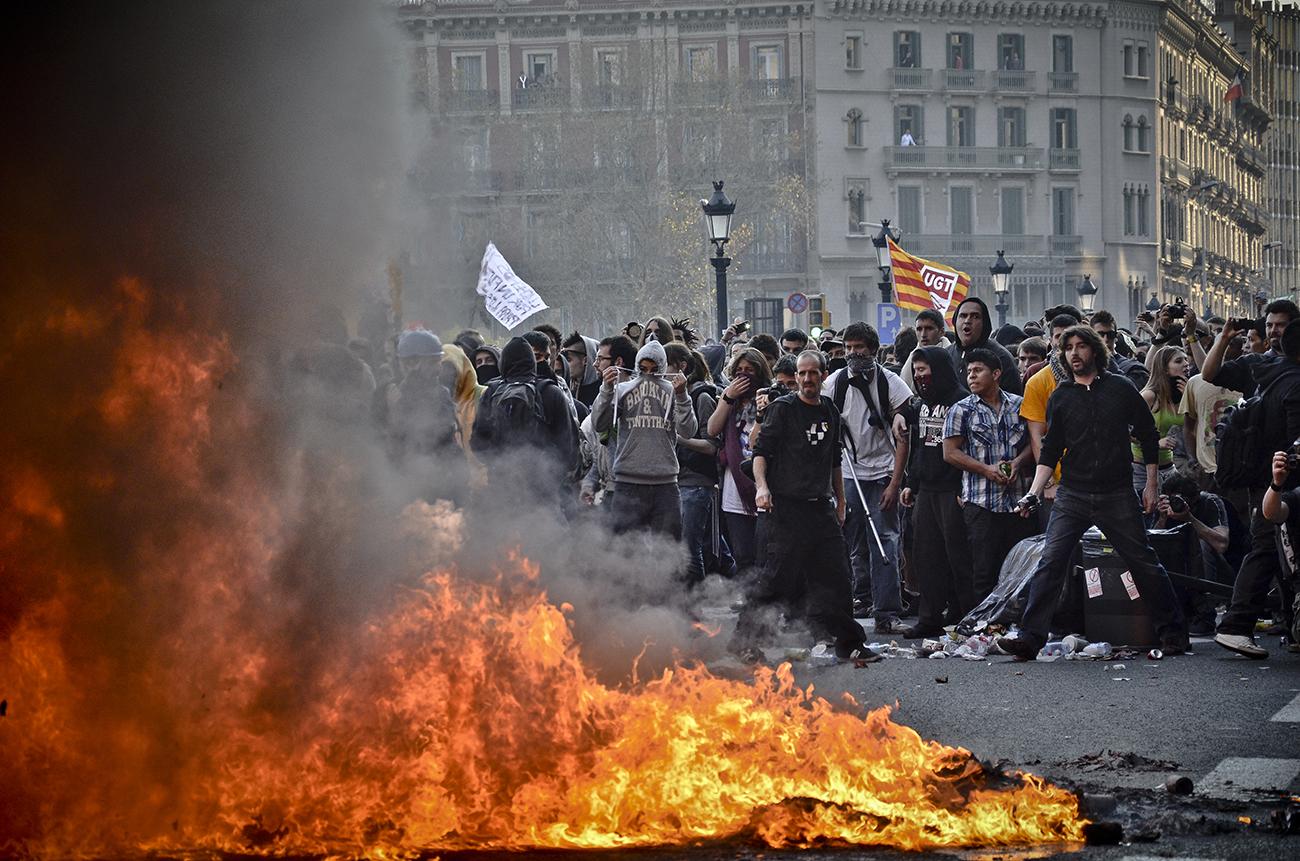 Huelga general 29M de 2013 en Barcelona07
