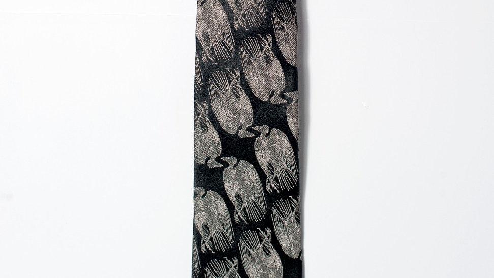 Dead Bird Tie - Black with Silver