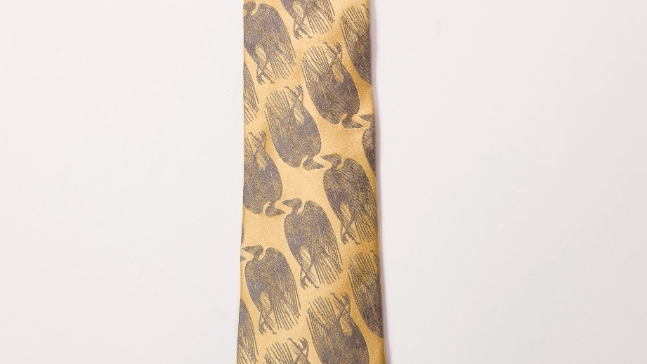 Dead Bird Tie - Gold with Silver