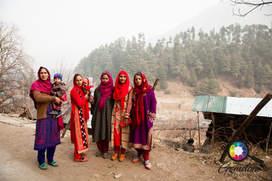 Kashmiri women dressed for a party.jpg