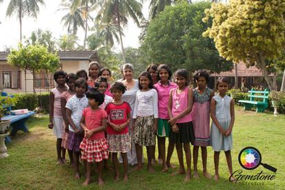 Children at the orphanage in Sri Lanka.j