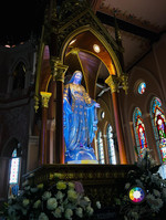 Statue of Virgin Mary. Cathedral of the