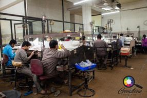Inside the jewellery factory in Jaipur,