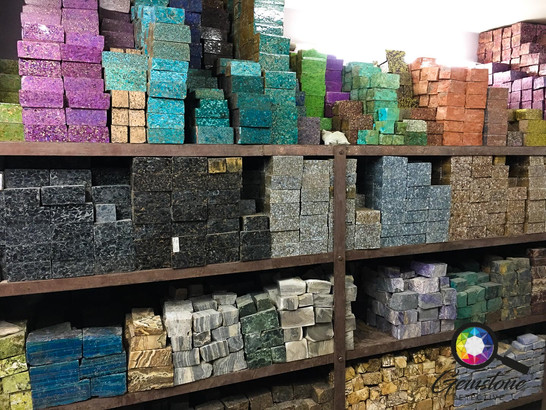 Turquoise compressed for storage in Indi