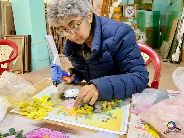 Kim Rix Gem Painting | www.gemstonedetective.com