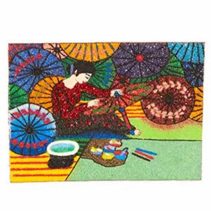 Gem Painting Umbrella Girl