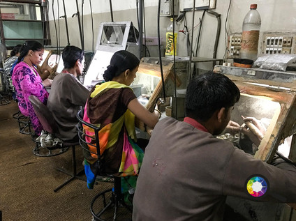 At the jewellery factory workshop in Jai