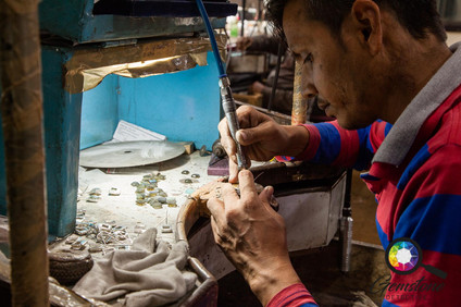 Watching jewellery being made in the wor