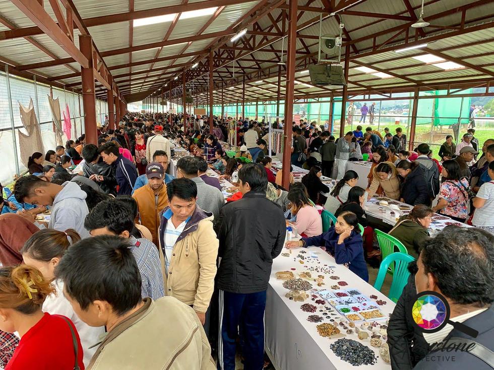 Inside the crowded gem market Mogok, Mya