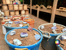Gem buckets for tourists at Emerald Holl