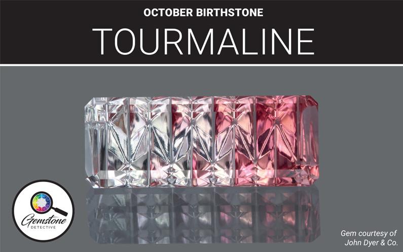 October's birthstone tourmaline | www.gemstonedetective.com