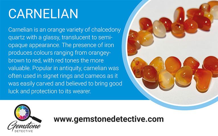 Carnelian | www.gemstonedetective.com