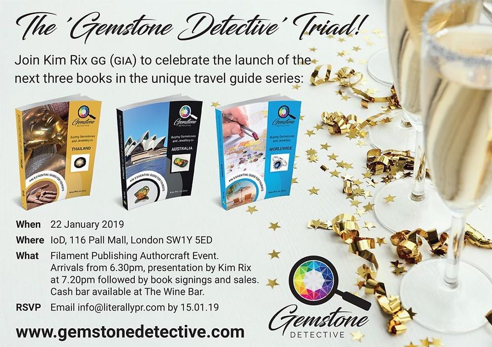 Gemstone Book Launch | www.gemstonedetective.com