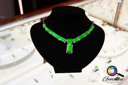 Stunning jade necklace in Mandalay, Myan