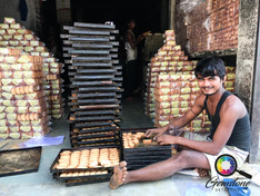 I walked past the bread factory in Jaipu