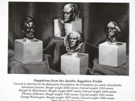 Presidents Heads sculptures