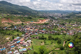 A view looking over East Mogok, Myanmar