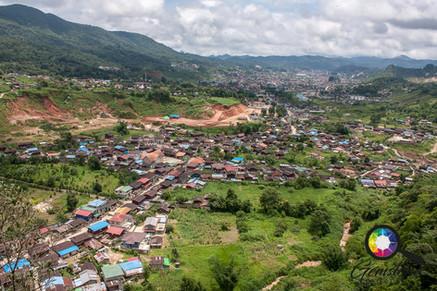 A view looking over East Mogok, Myanmar