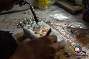 Watching jewellery being made in India.j