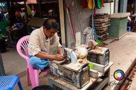 Trader at the Jade market in Mandalay.jp