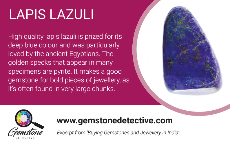 Lapis Lazuli for Pride month | www.gemstonedetective.com