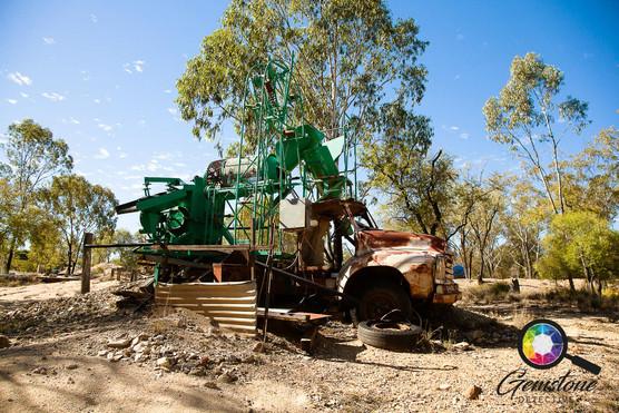 Opal mine in Lightning Ridge, Australia.