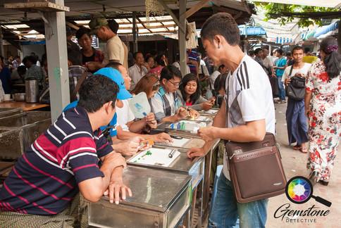 At the jade market in Mandalay, Myanmar.