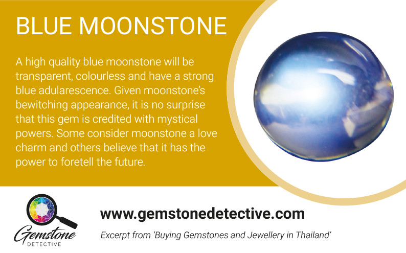 Moonstone romantic gemstone
