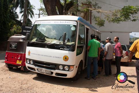 The mobile testing van in Ratnapura gem
