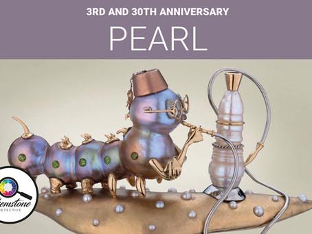 3rd anniversary gemstone: pearl