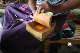 Making gold leaf in Mandalay, Myanmar.jp
