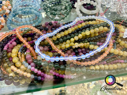 Opalite glass at the gemstone market in