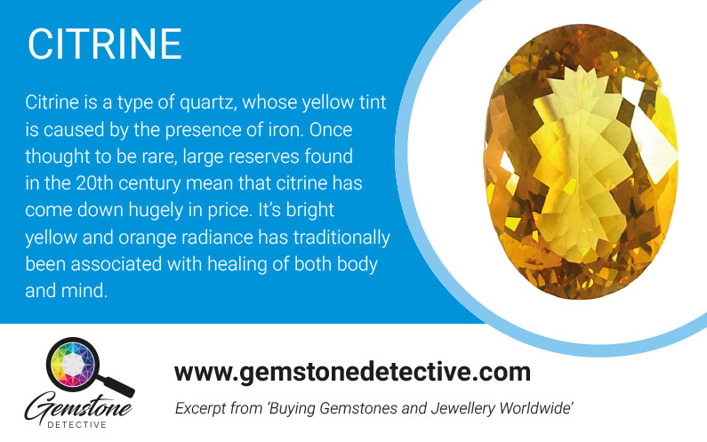 Lucky gemstones citrine | www.gemstonedetective.com