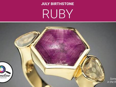 July's birthstone: Ruby