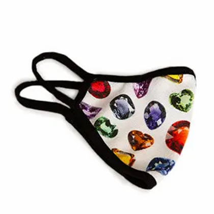 Face mask with gemstone print - large