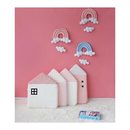 Set perne căsuțe roz