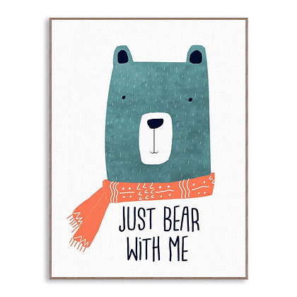 POSTER BEAR WITH ME