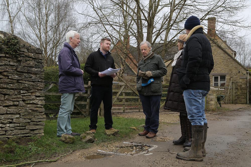 Liam Walker meeting residents in Church Hanborough